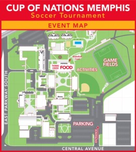 Event Map Memphis Cup Of Nations - Us event map design
